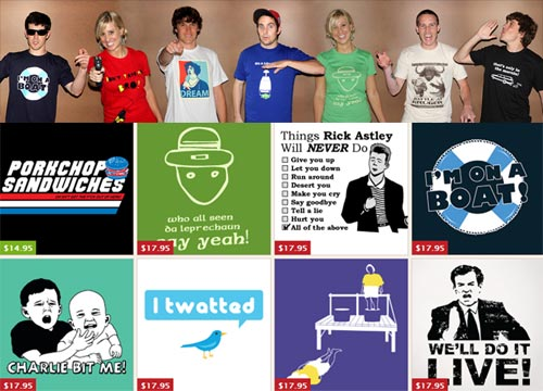 YouTube™ Inspired T-Shirts!