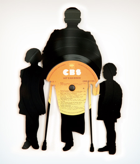 Silhouettes from Vinyl Records