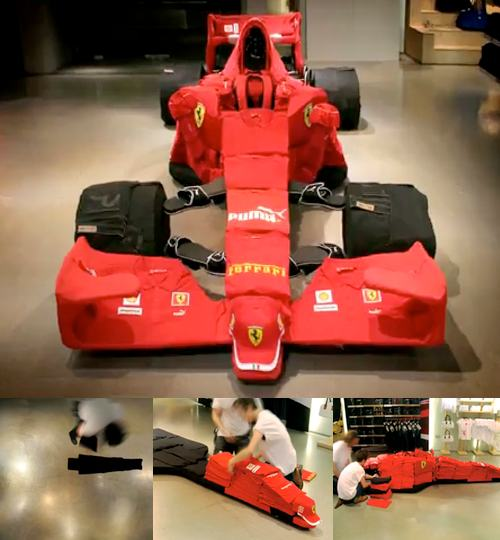Ferrari Car From Clothes By PUMA Pitcrew