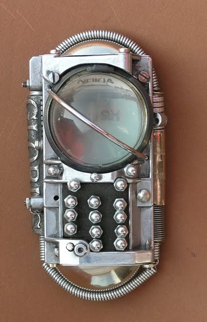 Steampunked Nokia Phone