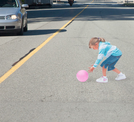 3D Illusion to slow down Traffic